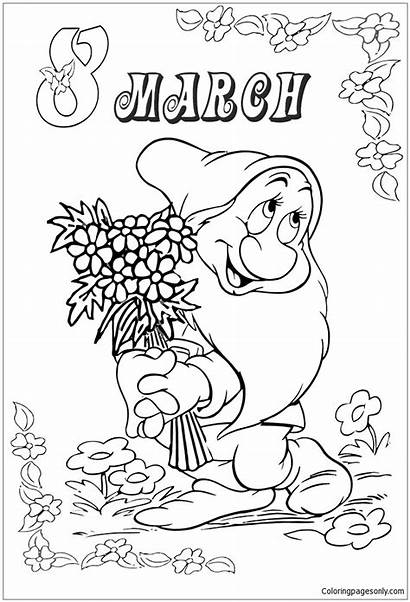 March Pages Flowers Coloring