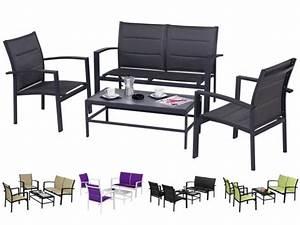 Salon De Jardin Table : salon de jardin table basse sofa fauteuils ~ Teatrodelosmanantiales.com Idées de Décoration