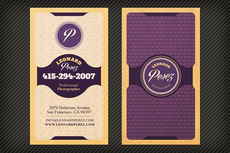 bright classy business card template design panoply