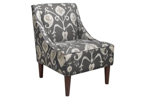 quinn swoop arm chair smoke gray ikat from one