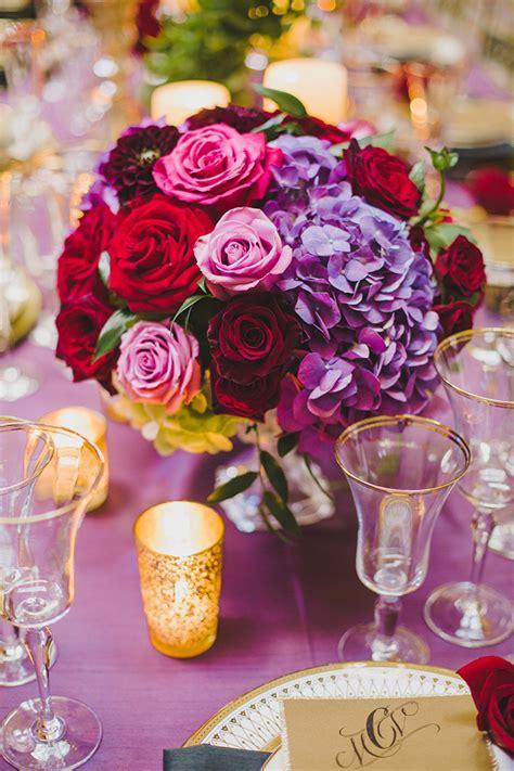 glam red  purple wedding inspiration glamour grace