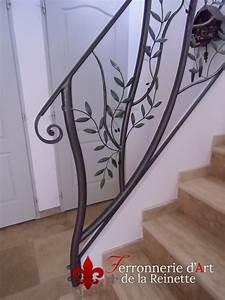 Rampe Pour Escalier : ferronnerie rampe rambarde escalier et garde corps fer forge aix en provence ferronnerie d 39 art ~ Melissatoandfro.com Idées de Décoration