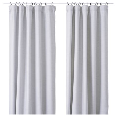 White And Gray Curtains Ikea by Vilborg Curtains 1 Pair Light Grey 145x250 Cm Ikea