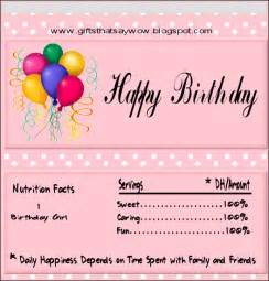 Free Printable Birthday Candy Wrappers