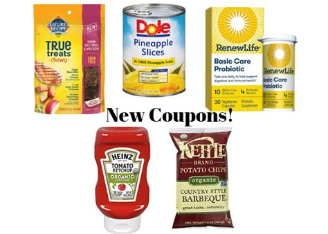 New Coupons- Renew Life, Kettle, Dole and Heinz Organic ...