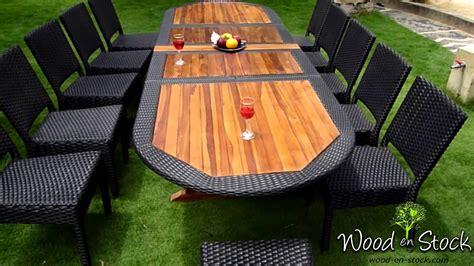 relooker une chaise salon de jardin ensemble table teck résine et chaises