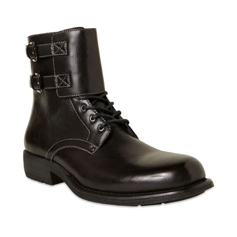 motorcycle boots shoes steve madden pello motorcycle boots in black for men lyst