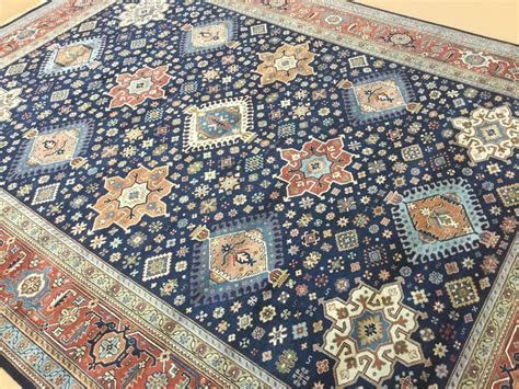 9x12 area rug 9 x 12 navy blue rust karajeh area rug