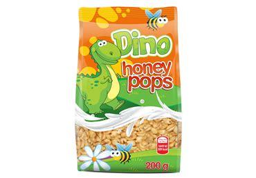 Sausās brokastis DINO HONEY POPS 200g