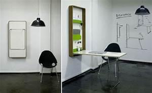Schreibtisch An Der Wand : wandklapptische klappbare holztische f r kleine r ume ~ Markanthonyermac.com Haus und Dekorationen