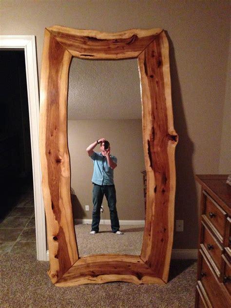 custom  edge hickory mirror  black swamp furnishings