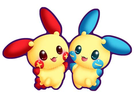 Plusle Minun By Clinkorz On Deviantart