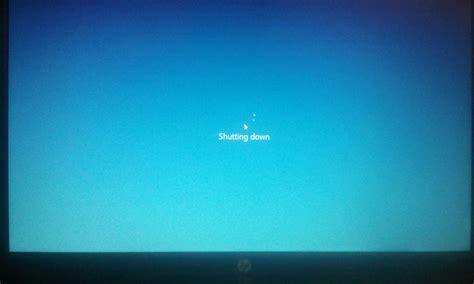 windows 10 laptop stuck at shutting on starting
