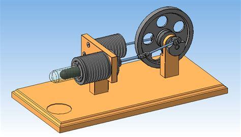 Двигатель стирлинга 3d cad models & 2d drawings