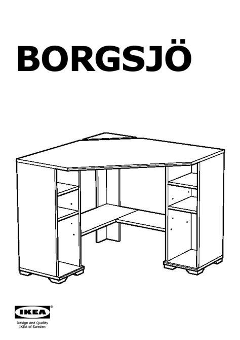Ikea Borgsjo White Corner Desk by Borgsj 214 Corner Desk Brown Ikea United States Ikeapedia