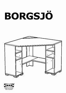 Bureau D Angle Ikea : borgsj bureau d 39 angle blanc ikea france ikeapedia ~ Teatrodelosmanantiales.com Idées de Décoration