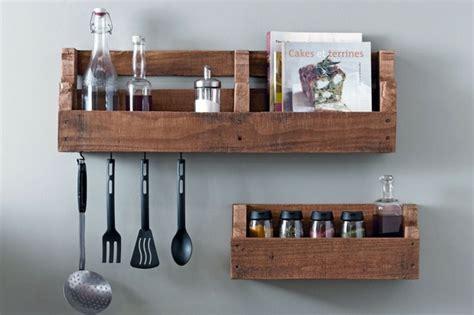 etageres de cuisine que faire des palettes de bois idées deco et design
