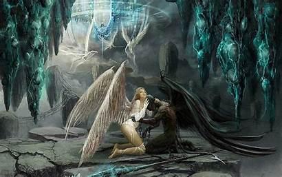 Angel Fantasy Angels Dark Wall Wallpapers Desktop