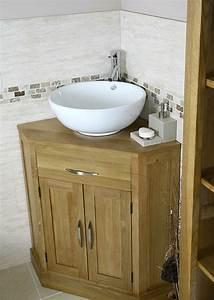 Bad Unterschrank Holz : bad unterschrank in der ecke anbringen interessante interieur l sungen ~ Frokenaadalensverden.com Haus und Dekorationen