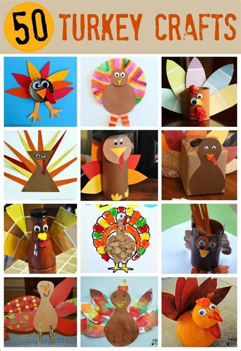 50 turkey crafts for thanksgiving holiday thanksgiving