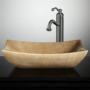 le lavabo en pierre en 61 photos et des astuces deco With salle de bain design avec lavabo pierre bleue
