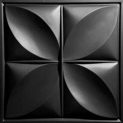 petal black ceiling tiles