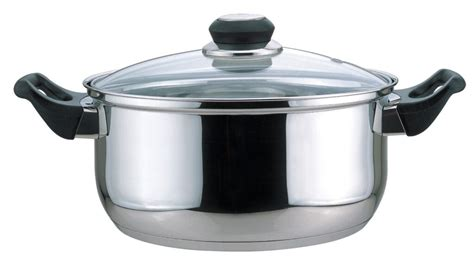 culinary edge stainless steel dutch oven  glass lid  quart larry  locksmith