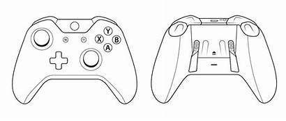 Xbox Controller 360 Drawing Scuf Sketch Outlines