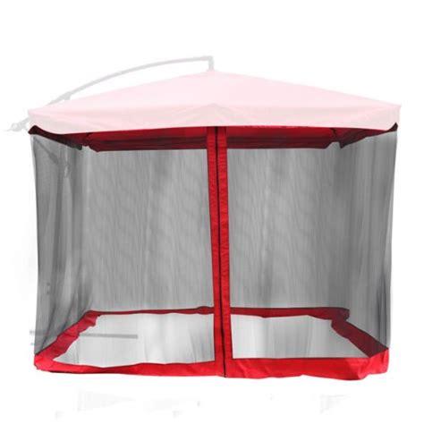 mosquito net for 9 x9 square patio umbrella or gazebo