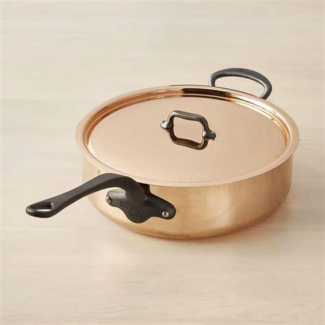 mauviel mc copper saute pan  lid   williams sonoma au