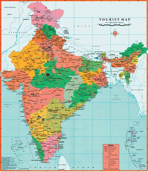 maps  india detailed map  india  english tourist