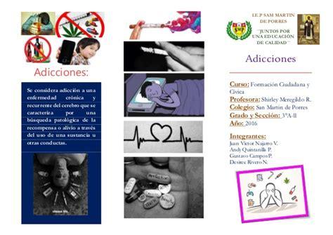 triptico de adicciones triptico de adicciones triptico adolescencia y adicciones iv jornadas