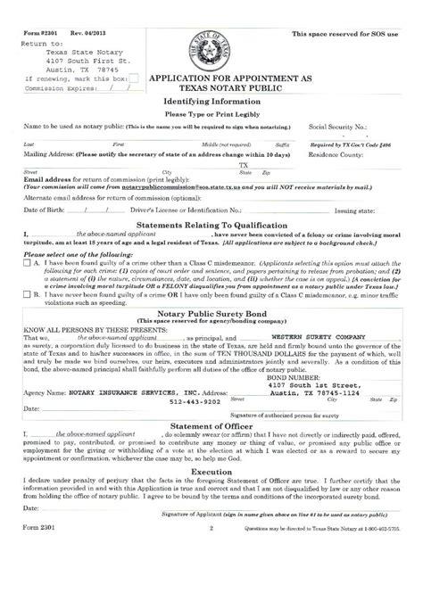 bureau notarial tx state notary renewal official notary renewal