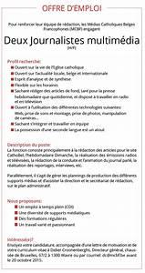 Offre D Emploi Perpignan Pole Emploi : offre d 39 emploi les m dias catholiques recherchent deux ~ Dailycaller-alerts.com Idées de Décoration