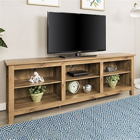 New 70 Inch Wide Barnwood Finish Television Stand Best