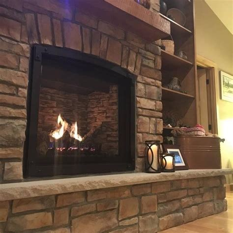 great american fireplace installed  marquis bentley