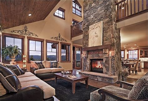 Living Rooms With Great Views by Great Room With Vaulted Ceiling Room Features A Gas