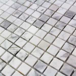 Mosaique Piscine Pas Cher : mosa que marbre carrare blanc poli carrelage mosaique pas ~ Premium-room.com Idées de Décoration