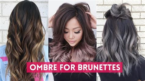 Ombre Hair Color For Brunettes Tutorials 🖤 Best Hair