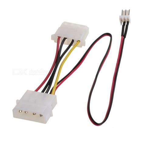 cpu fan adapter cable universal large 4 pin to 3 pin power supply adapter cable
