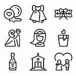 Icons Icon Marriage Couple Packs Invitation Vector