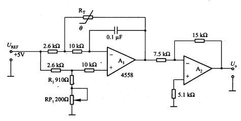 temperaturevoltage conversion circuit  thermistor