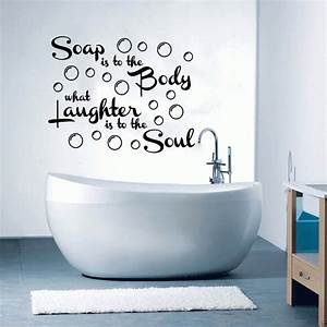 17 decorative bathroom wall decals keribrownhomes With wall art stickers for bathrooms