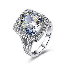 synthetic engagement rings aliexpress buy luxury quality wedding ring amazing 8 carat cushion cut synthetic
