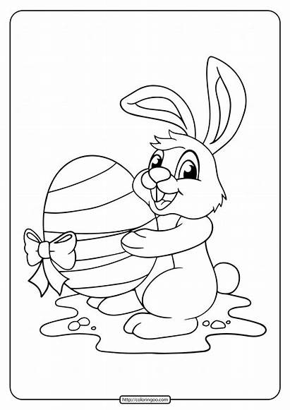 Easter Coloring Egg Rabbit Printable Joker Pdf
