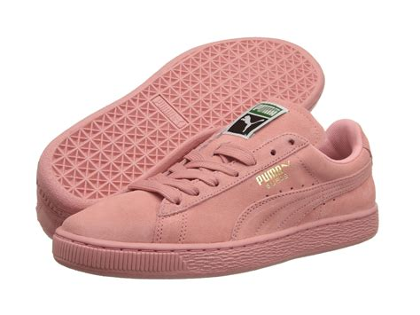 light pink puma shoes lyst puma suede classic wns in pink