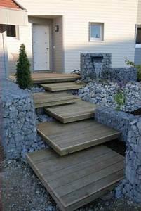 que mettre sur les marches beton de l39escalier exterieur With escalier terrasse exterieur jardin