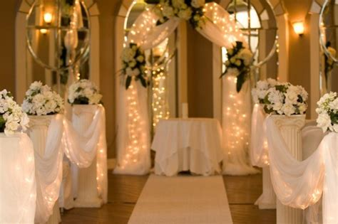 using tulle and lights for wedding decor thriftyfun