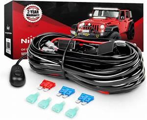 Nilight Wiring Harness Kit For Led Work Light Bar 12v
