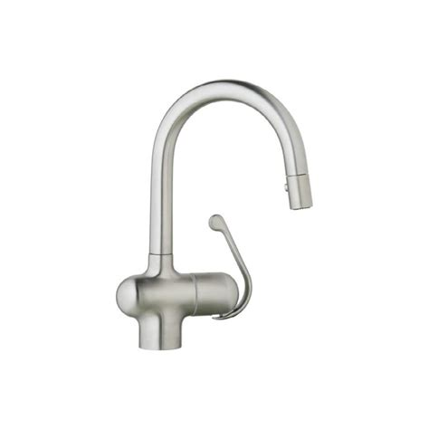grohe ladylux kitchen faucet shop grohe ladylux pro stainless steel 1 handle bar and prep faucet at lowes com